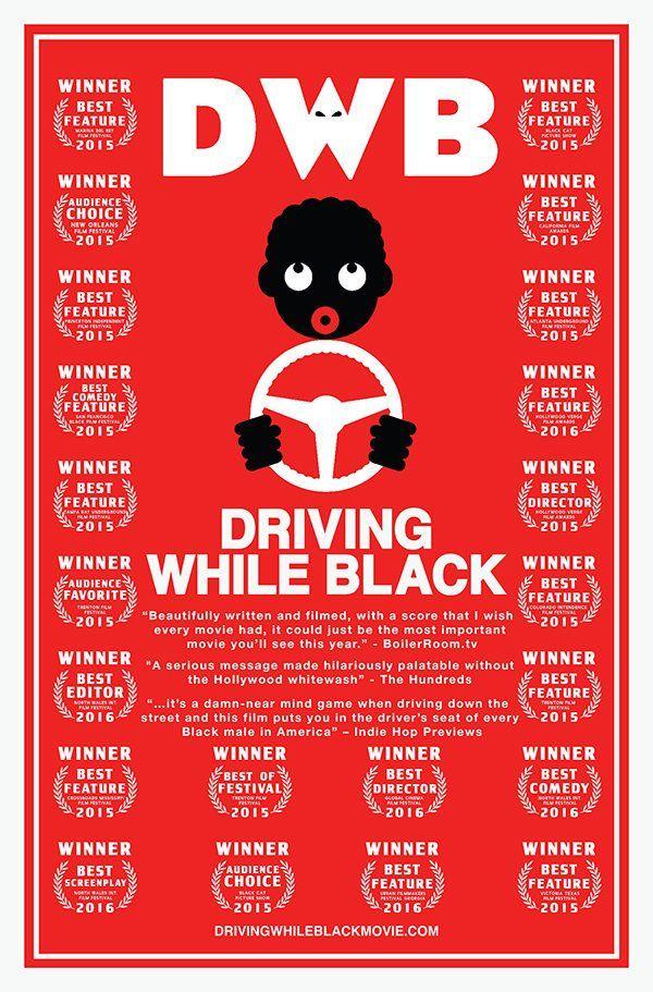 Drivinbg While Black poster