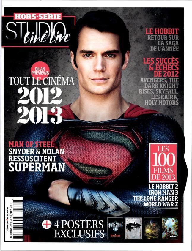 <strong><em>Man of Steel</em></strong> Studio Cine Live Magazine cover