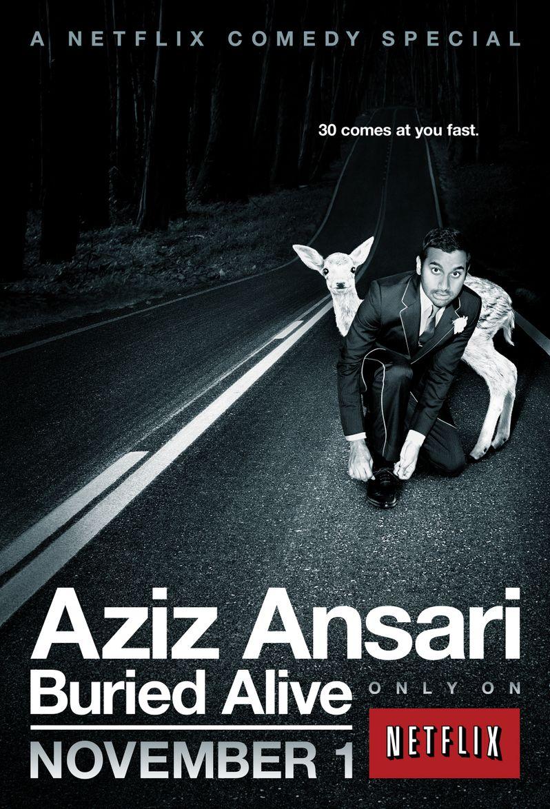 Aziz Ansari Buried Alive Promo Art