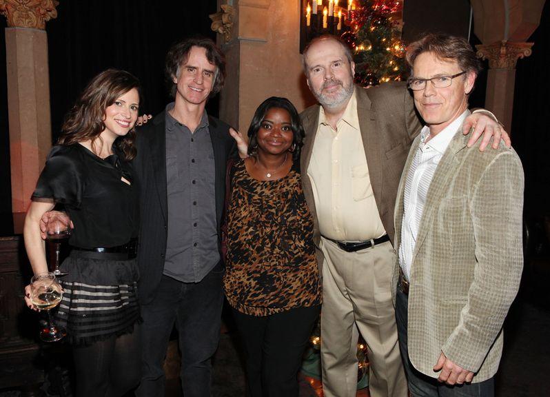 Andrea Savage, director Jay Roach, Octavia Spencer, Rick Overton and Bruce Greenwood celebrate <strong><em>Dinner for Schmucks</em></strong> in Hollywood