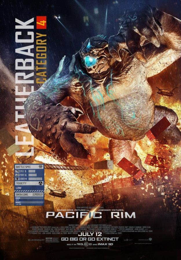 <strong><em>Pacific Rim</em></strong> Character Poster Leatherback