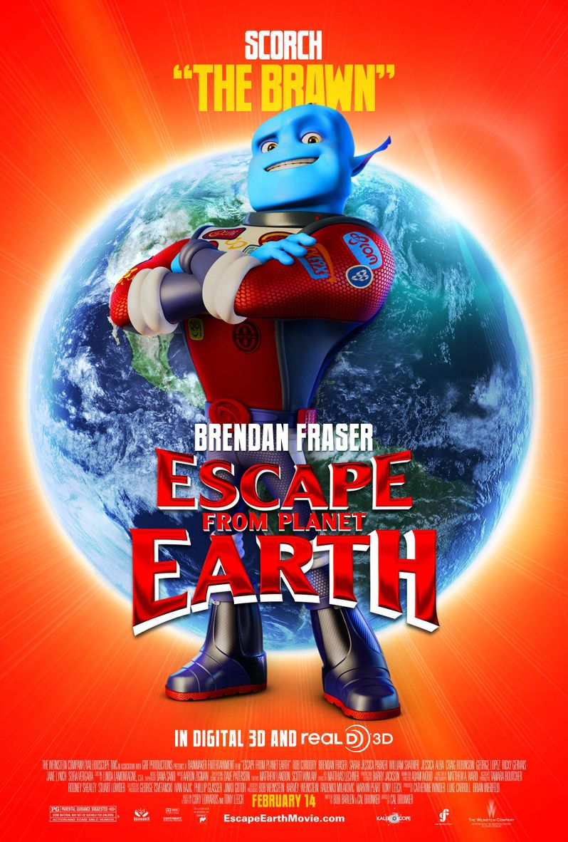 Escape From Planet Earth Scorch Supernova Character Poster
